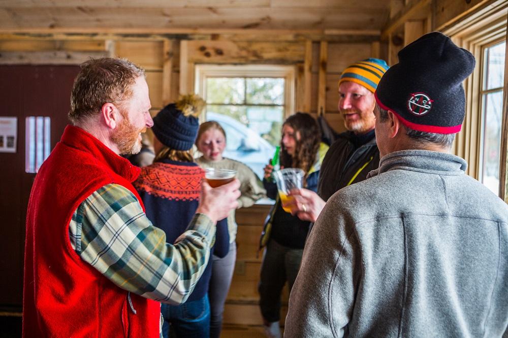 toast in warming hut