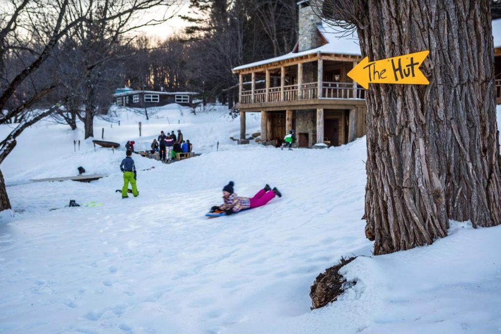 sledding warming hut